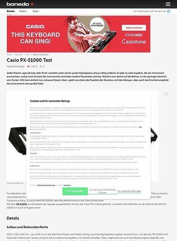 Bonedo.de Casio PX-S1000