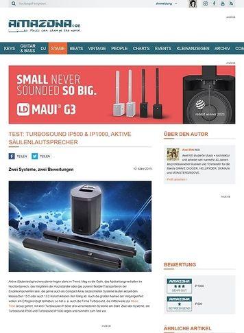 Amazona.de Turbosound iP500 & iP1000