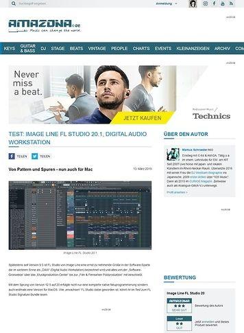Amazona.de Image Line FL Studio 20.1