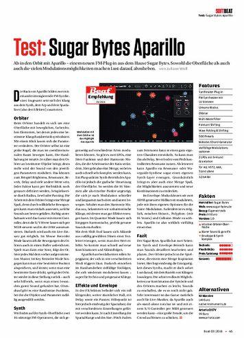 Beat Sugar Bytes Aparillo
