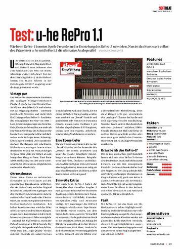 Beat u-he Repro 1.1