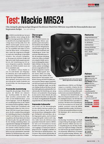 Beat Mackie MR524
