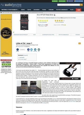 Audiofanzine.com Boss MT-2W Metal Zone