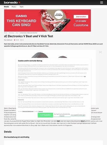 Bonedo.de sE Electronics V Beat und V Kick