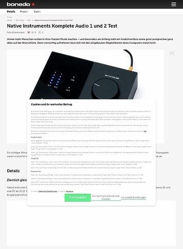 Bonedo.de Native Instruments Komplete Audio 1 und 2
