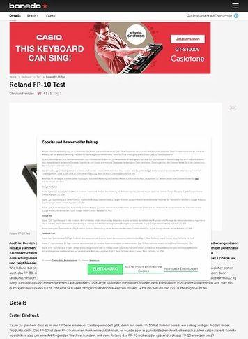 Bonedo.de Roland FP-10