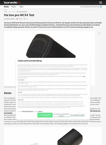 Bonedo.de the box pro MCX4