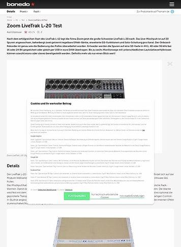 Bonedo.de Zoom LiveTrak L-20