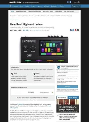 MusicRadar.com HeadRush Gigboard