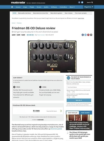 MusicRadar.com Friedman BE-OD Deluxe