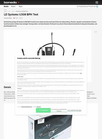 Bonedo.de LD Systems U308 BPH
