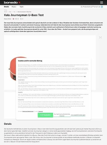 Bonedo.de Kala Journeyman U-Bass