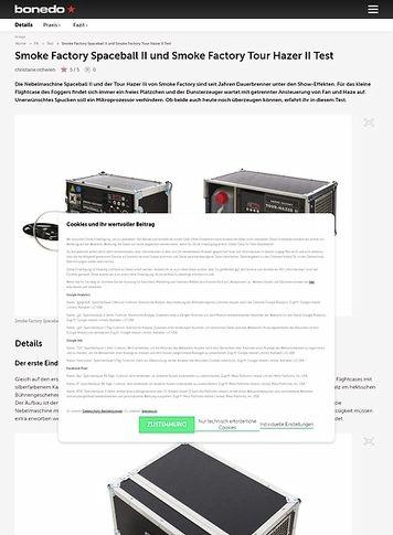 Bonedo.de Smoke Factory Spaceball II und Smoke Factory Tour Hazer II