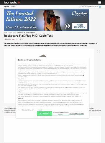 Bonedo.de Rockboard FlaX Plug MIDI Cable
