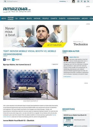 Amazona.de Isovox Mobile Vocal Booth V2
