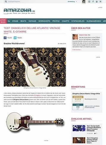 Amazona.de DAngelico Deluxe Atlantic Vintage White