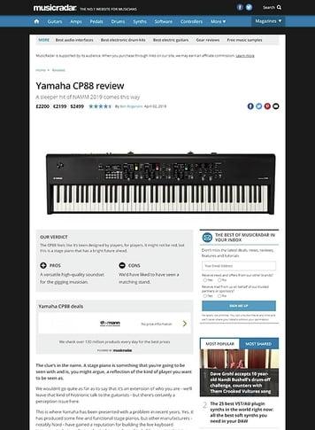 MusicRadar.com Yamaha CP88