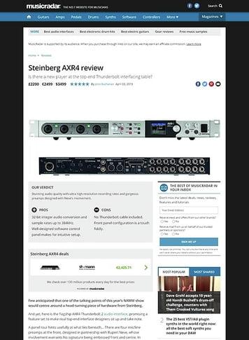 MusicRadar.com Steinberg AXR4