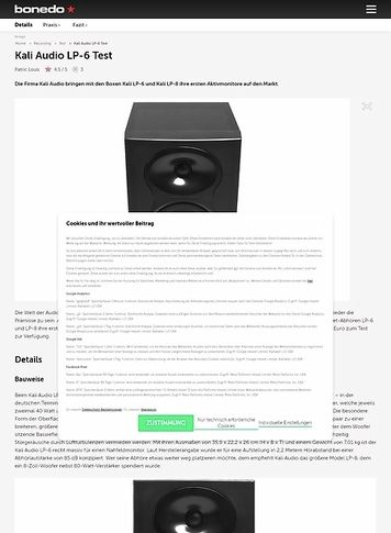 Bonedo.de Kali Audio LP-6