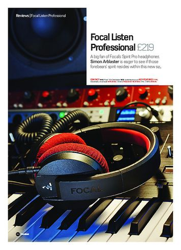 Future Music Focal Listen Professional