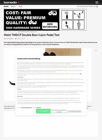 Bonedo.de Meinl TMDCP Double Bass Cajon Pedal