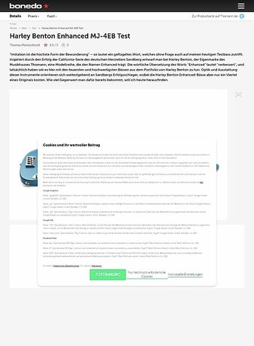 Bonedo.de Harley Benton Enhanced MJ-4EB