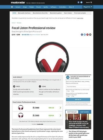 MusicRadar.com Focal Listen Professional