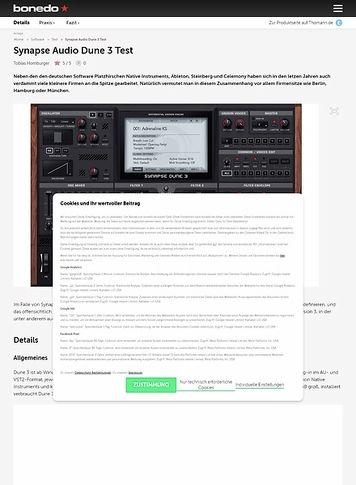 Bonedo.de Synapse Audio Dune 3