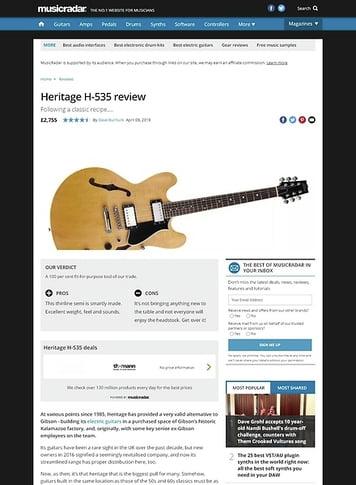 MusicRadar.com Heritage H-535
