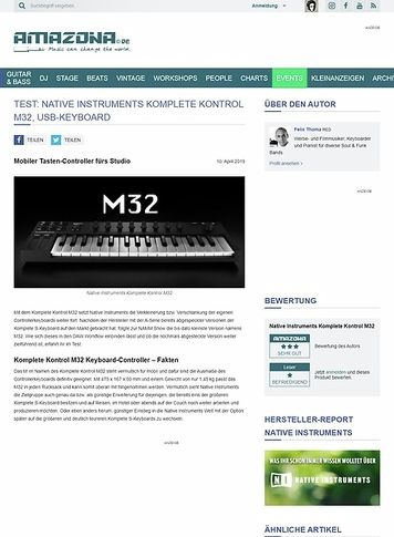Amazona.de Native Instruments Komplete Kontrol M32