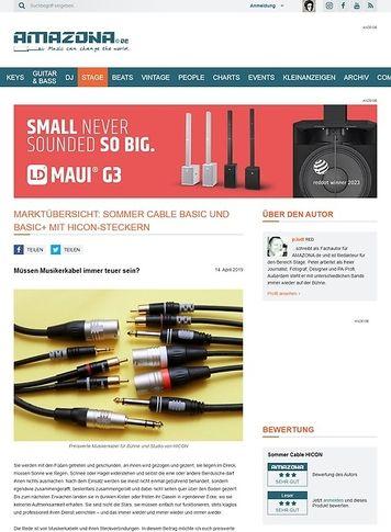 Amazona.de Sommer Cable Basic und Basic+