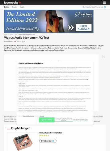 Bonedo.de Walrus Audio Monument V2