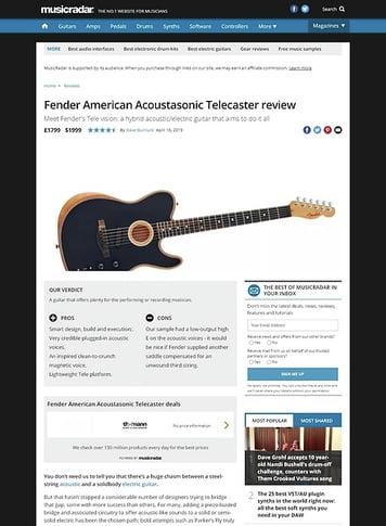 MusicRadar.com Fender American Acoustasonic Telecaster