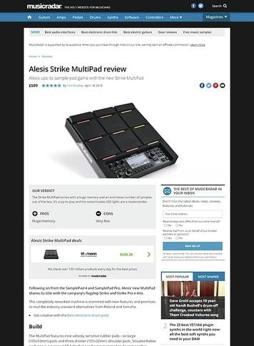 MusicRadar.com Alesis Strike MultiPad