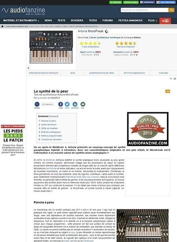Audiofanzine.com Arturia MicroFreak