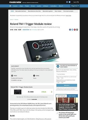 MusicRadar.com Roland TM-1 Trigger Module