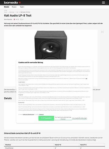 Bonedo.de Kali Audio LP-8