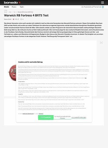 Bonedo.de Warwick RB Fortress 4 BRTS