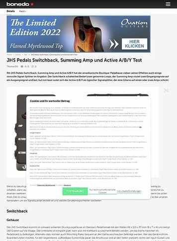Bonedo.de JHS Pedals Switchback, Summing Amp und Active A/B/Y