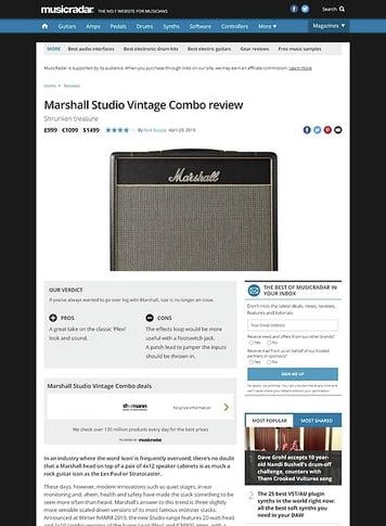 MusicRadar.com Marshall Studio Vintage Combo