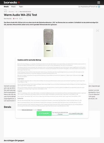 Bonedo.de Warm Audio WA-251