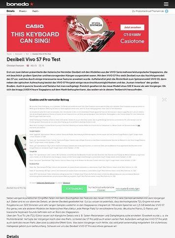 Bonedo.de Dexibell Vivo S7 Pro