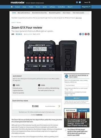 MusicRadar.com Zoom G1X Four