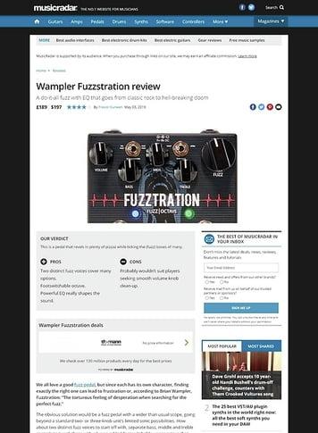 MusicRadar.com Wampler Fuzztration
