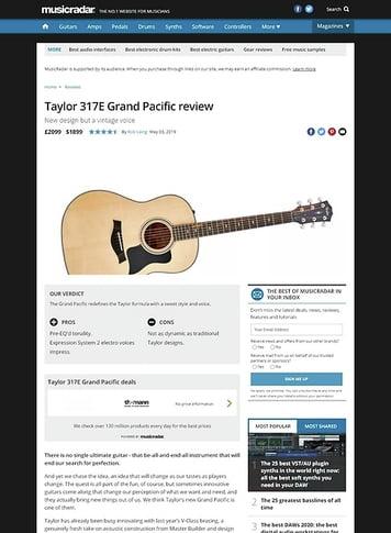 MusicRadar.com Taylor 317E Grand Pacific