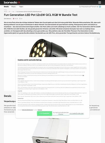 Bonedo.de Fun Generation LED Pot 12x1W QCL RGB W Bundle