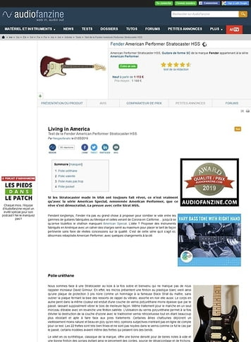 Audiofanzine.com Fender American Performer Stratocaster HSS