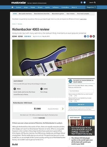 MusicRadar.com Rickenbacker 4003