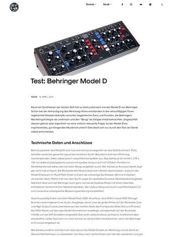 DJLAB Behringer Model D