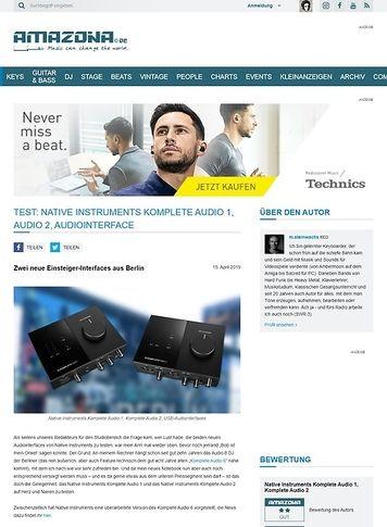 Amazona.de Native Instruments Komplete Audio 1 & 2